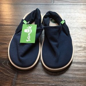 Sanuk Yoga Sling Cruz sandals, navy blue, size 7